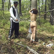 Terrified girl stripped naked in the forest - Unique Bondage - Pic 4