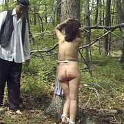 Terrified girl stripped naked in the forest - Unique Bondage - Pic 10