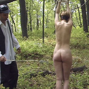 Terrified girl stripped naked in the forest - Unique Bondage - Pic 12