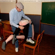 Classroom OTK spankings and humiliation for - Unique Bondage - Pic 4
