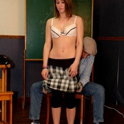 Classroom OTK spankings and humiliation for - Unique Bondage - Pic 7