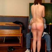 Classroom OTK spankings and humiliation for - Unique Bondage - Pic 16