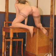 Filthy teen slut in stockings strips down - Unique Bondage - Pic 8