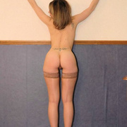 Filthy teen slut in stockings strips down - Unique Bondage - Pic 16
