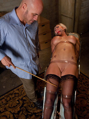 Office girl gets tied up and ass banged by - Unique Bondage - Pic 11
