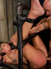 Office girl gets tied up and ass banged by - Unique Bondage - Pic 12