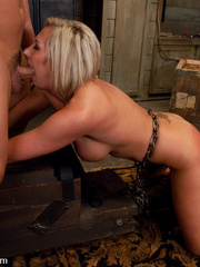 Office girl gets tied up and ass banged by - Unique Bondage - Pic 14