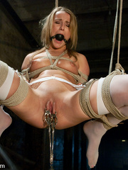 Tied up and whipped blonde slave gets her - Unique Bondage - Pic 6