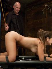 Petite brunette slave beauty gets her soft - Unique Bondage - Pic 7