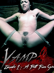 Helplessly tied up slave beauty gets her - Unique Bondage - Pic 1