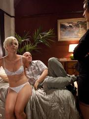 Little tied up blonde slave babe gets her - Unique Bondage - Pic 3
