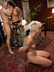 Little tied up blonde slave babe gets her - Unique Bondage - Pic 14