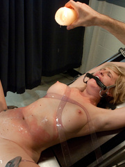 Humiliated gagballed hottie learns quickly - Unique Bondage - Pic 9