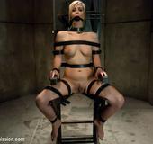 Blonde sexy hottie in belt bondage won't forget…