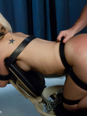 Blonde sexy hottie in belt bondage won't - Unique Bondage - Pic 10