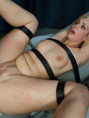 Blonde sexy hottie in belt bondage won't - Unique Bondage - Pic 14