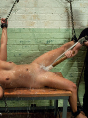 Hanged in tight bondage gets her pussy - Unique Bondage - Pic 12