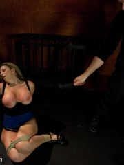 Super busty restrained blonde milf in hot - Unique Bondage - Pic 3