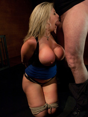 Super busty restrained blonde milf in hot - Unique Bondage - Pic 4