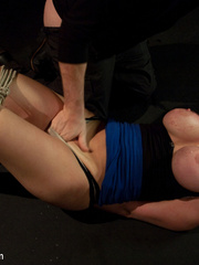 Super busty restrained blonde milf in hot - Unique Bondage - Pic 5