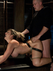 Super busty restrained blonde milf in hot - Unique Bondage - Pic 10