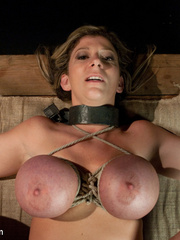 Super busty restrained blonde milf in hot - Unique Bondage - Pic 12