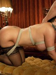 Underground sex slave in tight stockings in - Unique Bondage - Pic 11