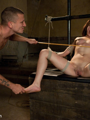 Innocent looking enslaved girl receives a - Unique Bondage - Pic 11