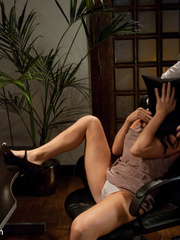 Caught masturbating office babe gets tied up - Unique Bondage - Pic 3