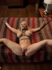Tied up enslaved blonde can't escape erotic - Unique Bondage - Pic 12