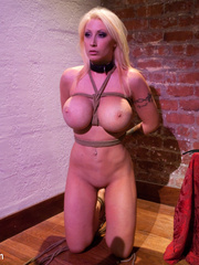 Tied up enslaved blonde can't escape erotic - Unique Bondage - Pic 14