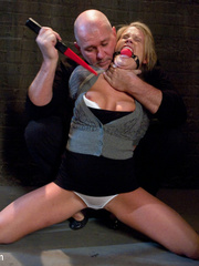 Restarined blonde young slave completely - Unique Bondage - Pic 2