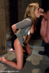 Restarined blonde young slave completely…