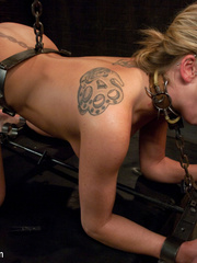 Restarined blonde young slave completely - Unique Bondage - Pic 10