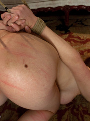 Busty whipped slave brunette became a victim - Unique Bondage - Pic 9
