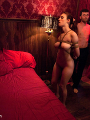Busty whipped slave brunette became a victim - Unique Bondage - Pic 13