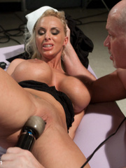 Submissive blonde slave with huge breasts - Unique Bondage - Pic 6