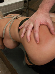 Submissive blonde slave with huge breasts - Unique Bondage - Pic 12