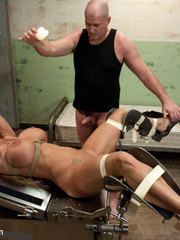 Submissive blonde slave with huge breasts - Unique Bondage - Pic 15