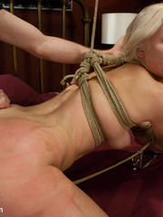 Petite blonde slave girl gets her body - Unique Bondage - Pic 8