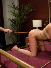 Petite blonde slave girl gets her body - Unique Bondage - Pic 9