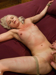 Petite blonde slave girl gets her body - Unique Bondage - Pic 13