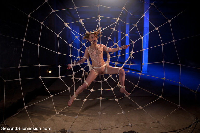 Caught as fly in web helpless slave babe - Unique Bondage - Pic 12