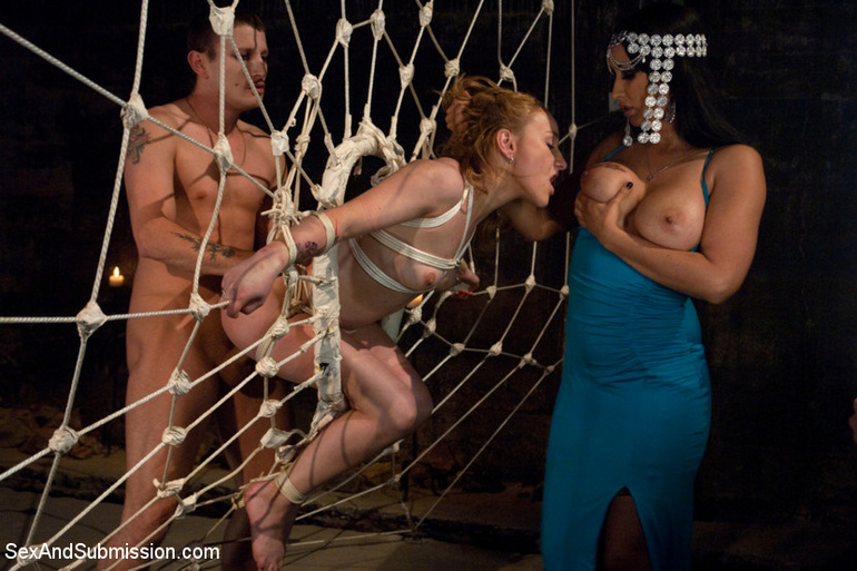 Caught as fly in web helpless slave babe - Unique Bondage - Pic 13