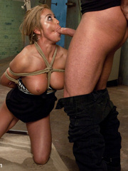 Little blonde slave babe with awesome tits - Unique Bondage - Pic 4