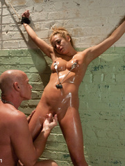 Little blonde slave babe with awesome tits - Unique Bondage - Pic 13