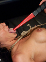 Tied up and gagballed busty hottie gets a - Unique Bondage - Pic 8