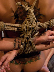 Tied up and gagballed busty hottie gets a - Unique Bondage - Pic 11