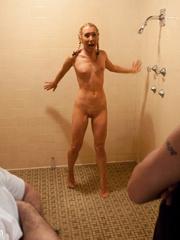 Captured in the shower blonde cutie get her - Unique Bondage - Pic 1