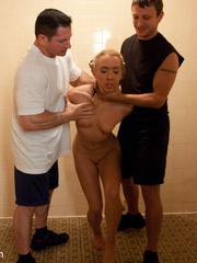 Captured in the shower blonde cutie get her - Unique Bondage - Pic 2
